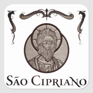 "Adhesive ""Is Cipriano (the Sorcerer - Steel layer) Square Sticker"