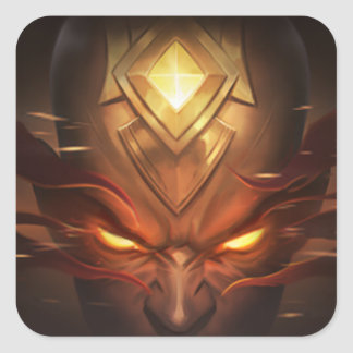 Adhesive Lee Sin Fists The holy ghosts Square Sticker