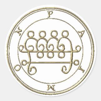 Adhesive Paimon 2 Goétia Classic Round Sticker