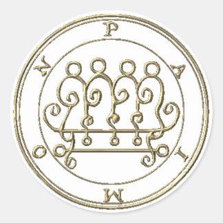 Adhesive Paimon Goétia Classic Round Sticker