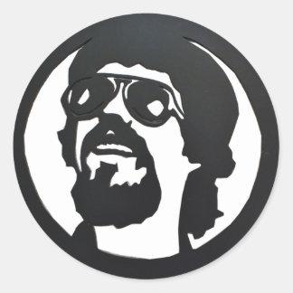 "Adhesive small round ""Raul Seixas "" Classic Round Sticker"