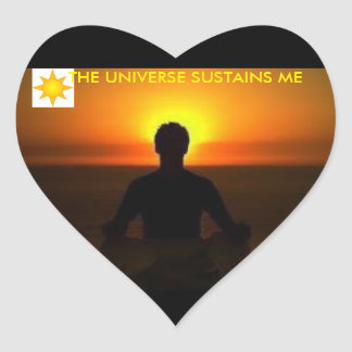 Adhesive The Universe Heart Sticker