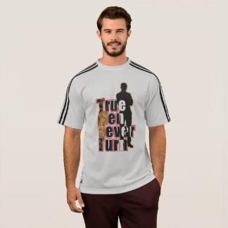 Adidas Grey stripe True Men Never Turn T-Shirt