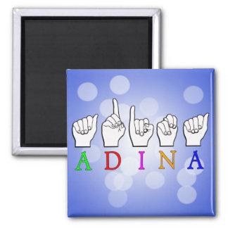 ADINA FINGERSPELLED ASL NAME SIGN MAGNET