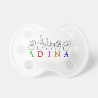 ADINA FINGERSPELLED ASL NAME SIGN PACIFIER