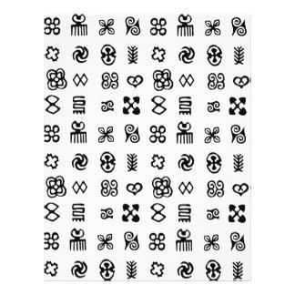 Adinkra African Symbols Custom Letterhead