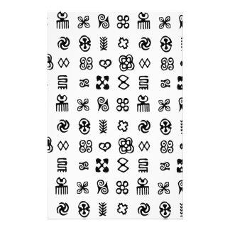 Adinkra African Symbols Stationery