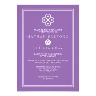 Adinkra Nyame Dua Symbol Lavender Wedding Card