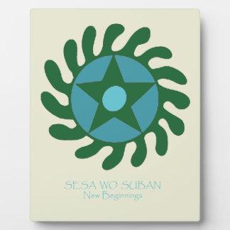 Adinkra Sesa Wo Suban - New Beginnings Plaque