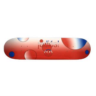 ¡Adiós! Chile Flag Colors Pop Art Skate Board Deck