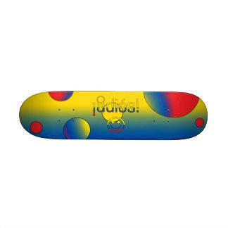 ¡Adiós! Ecuador Flag Colors Pop Art Skateboards
