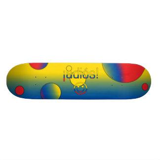¡Adiós Ecuador Flag Colors Pop Art Skate Deck