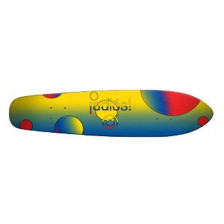 ¡Adiós! Ecuador Flag Colours Pop Art Skate Board
