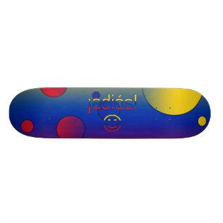 ¡Adiós! Venezuela Flag Colors Pop Art Skateboard