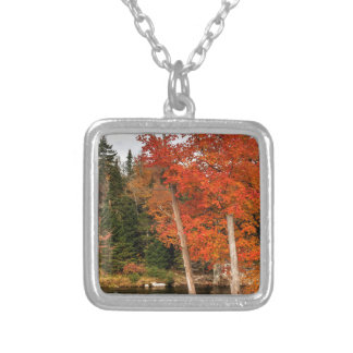 Adirondack Autumn Silver Plated Necklace