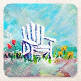 Adirondack Chair Square Paper Coaster