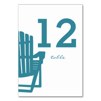 Adirondack Chair Table Number Card Table Cards