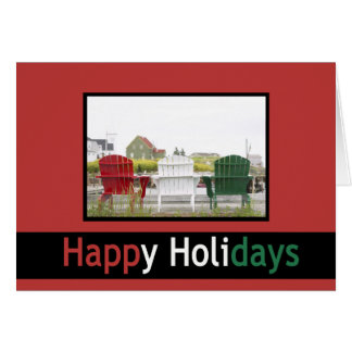 Adirondack Chairs Holiday Card