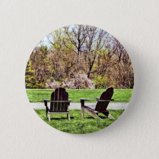 Adirondack Chairs In Spring 2 Inch Round Button