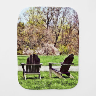 Adirondack Chairs In Spring Burp Cloth