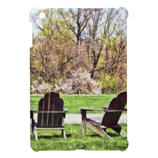 Adirondack Chairs In Spring Cover For The iPad Mini