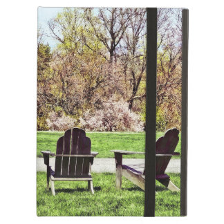 Adirondack Chairs In Spring iPad Air Case