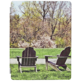 Adirondack Chairs In Spring iPad Cover