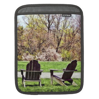 Adirondack Chairs In Spring iPad Sleeve