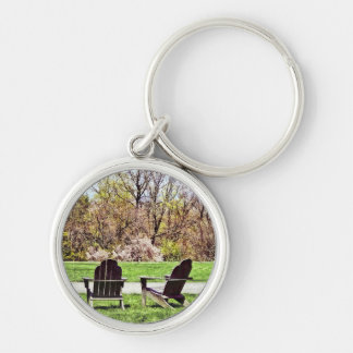 Adirondack Chairs In Spring Keychain