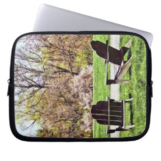 Adirondack Chairs In Spring Laptop Sleeve