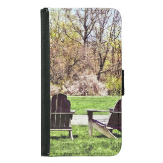 Adirondack Chairs In Spring Samsung Galaxy S5 Wallet Case