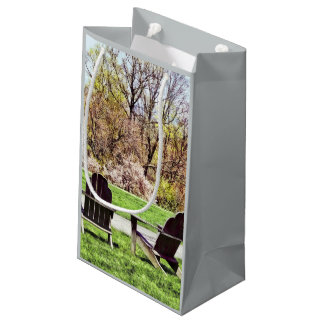 Adirondack Chairs In Spring Small Gift Bag