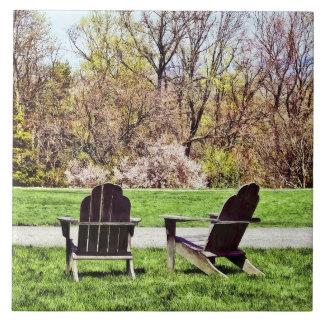 Adirondack Chairs In Spring Tile