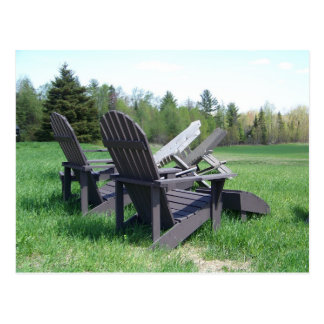 Adirondack Chairs Postcard