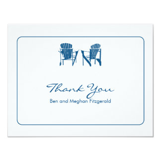 Adirondack Chairs Thank You Card