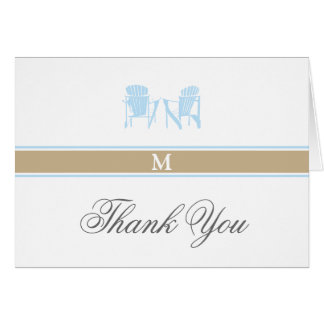 Adirondack Chairs Thank You Note Card