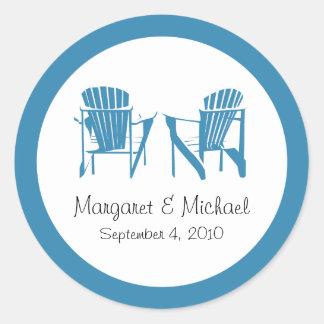 Adirondack Chairs Wedding Sticker - Personalized