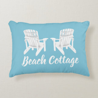 Adirondack Chairs Your Color and Text Accent Pillow