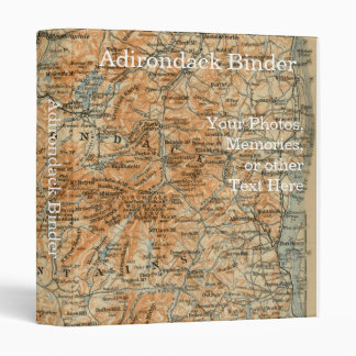 Adirondack Mountains and Park Map Vinyl Binders