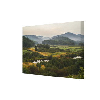Adirondack Mountains - Fog - New York State Canvas Print