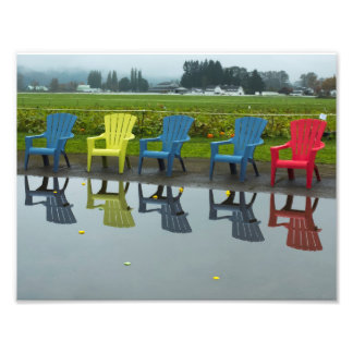 Adirondak chair reflections photo print
