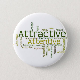 Adjectives to describe yourself starts with A 2 Inch Round Button