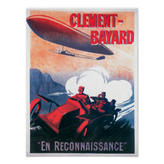 Adjudant Vincenot WWI Airship Promotional Poster