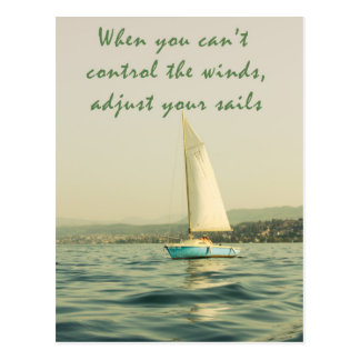 Adjust your sails postcard