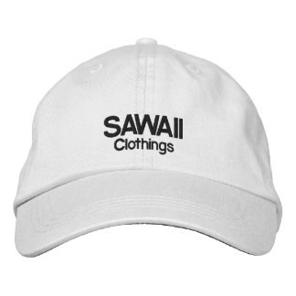 Adjustable cap SAWAII - White Embroidered Hats