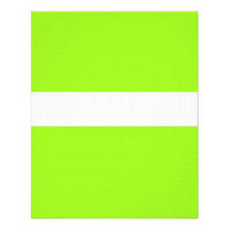 ADJUSTABLE chartreuse Neon & White Flyer