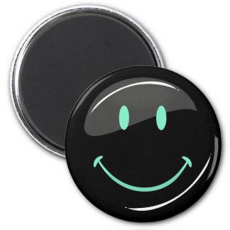 Adjustable Color Neon Black Happy Face Magnet