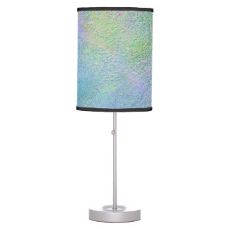 Adjustible Multicolored Shade-Blues Greens & Pinks Table Lamp