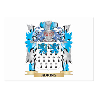 Adkins Coat Of Arms Business Card