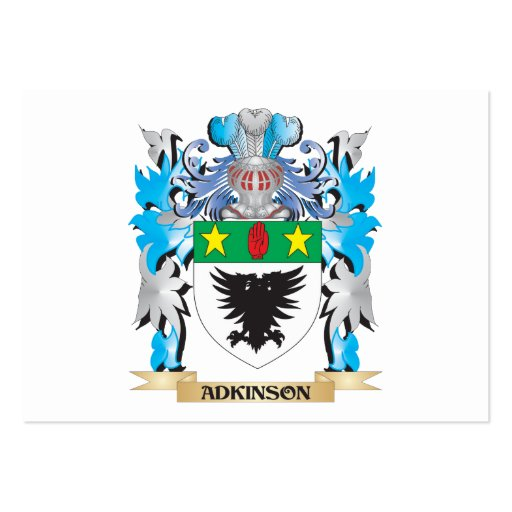 Adkinson Coat Of Arms Business Card Template